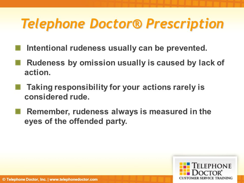 Telephone Doctor® Prescription