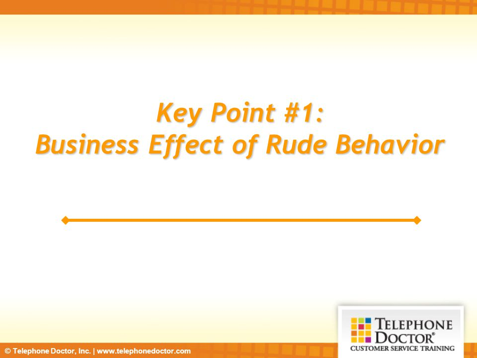 Business Effect of Rude Behavior