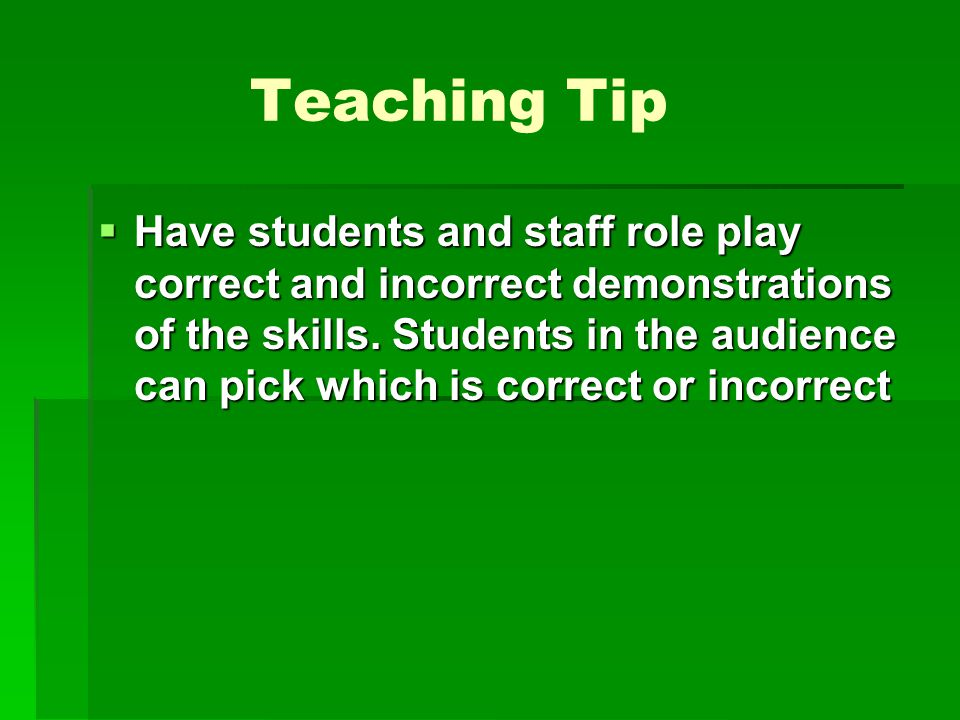 Teaching Tip