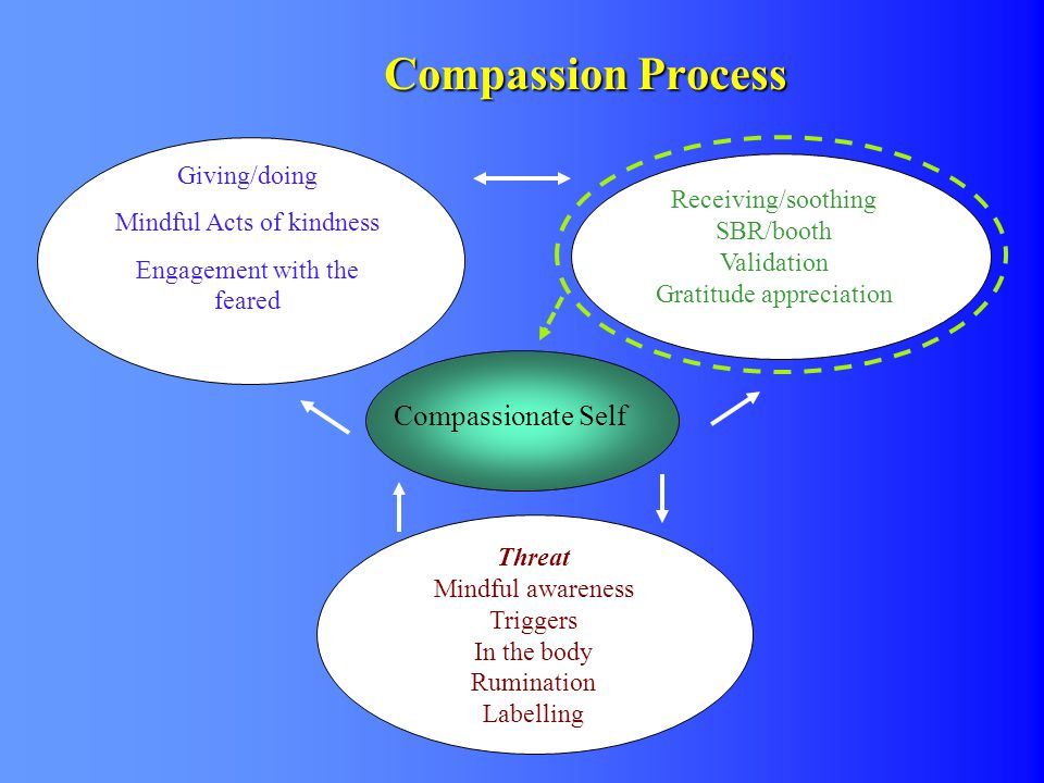 Compassion Process Compassionate Self Giving/doing