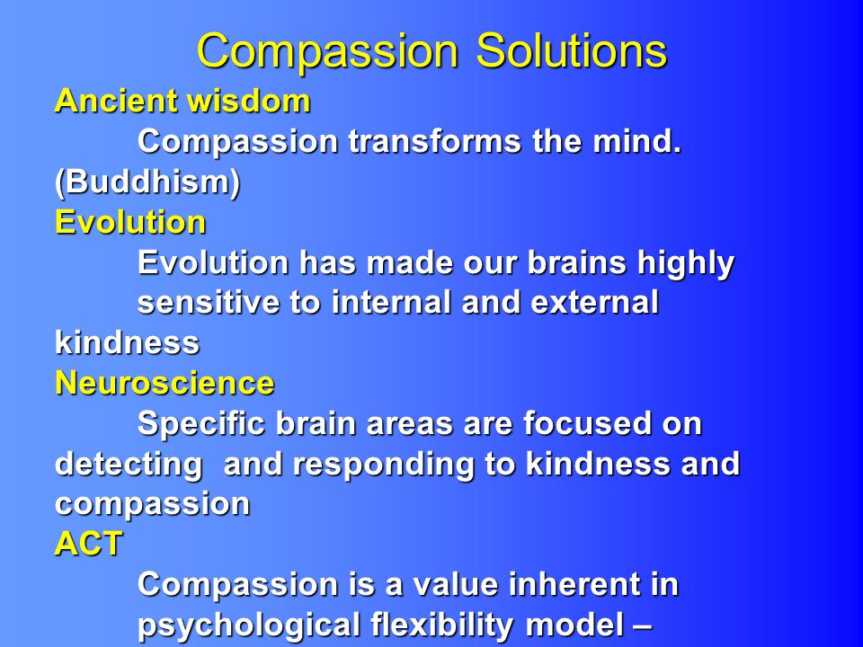 Compassion Solutions Ancient wisdom