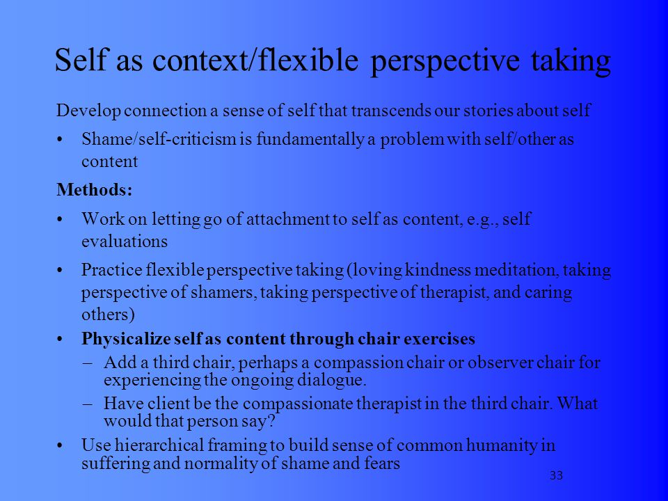 Self as context/flexible perspective taking