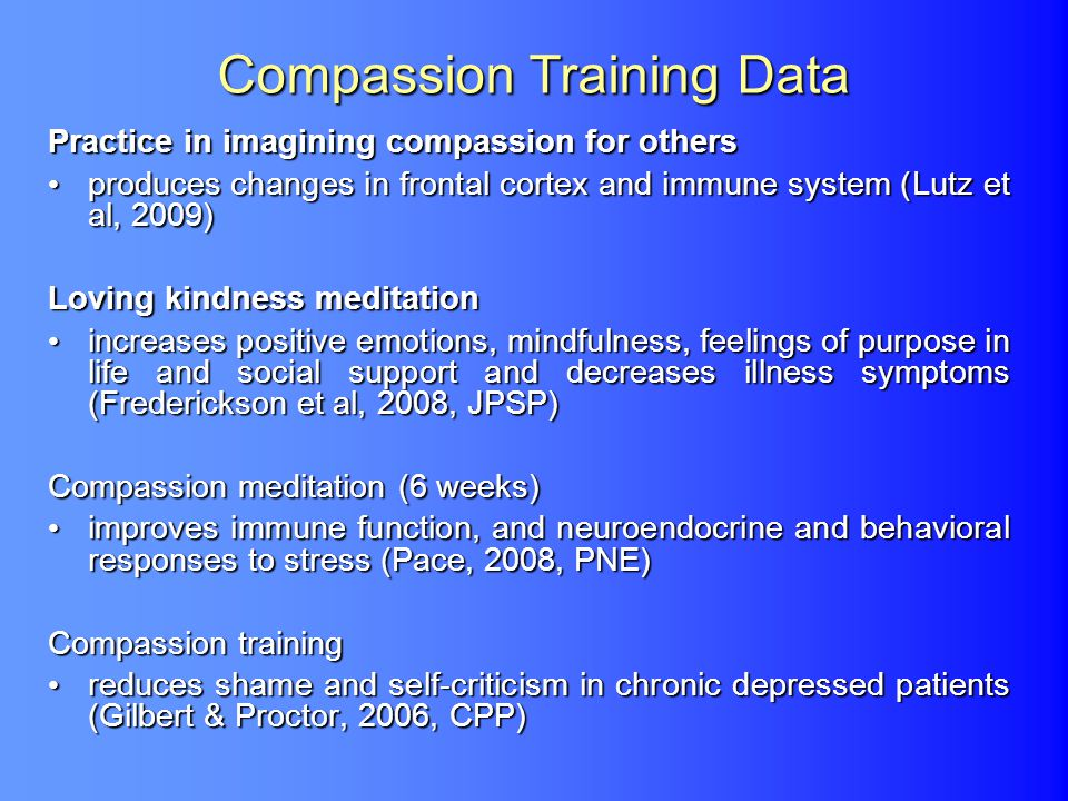 Compassion Training Data