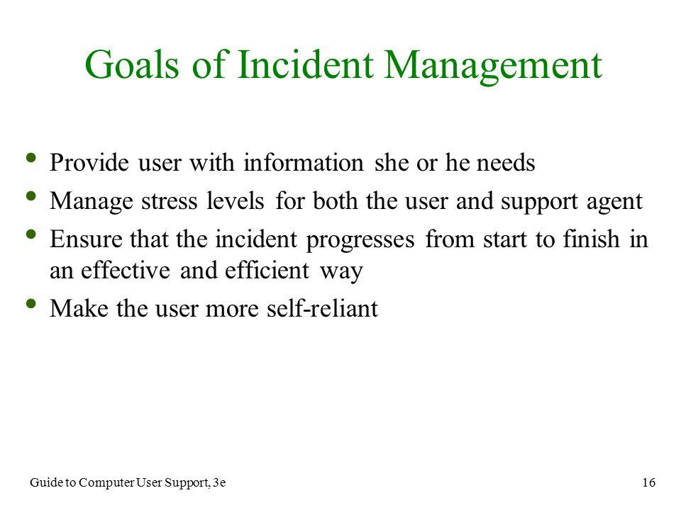 Goals of Incident Management
