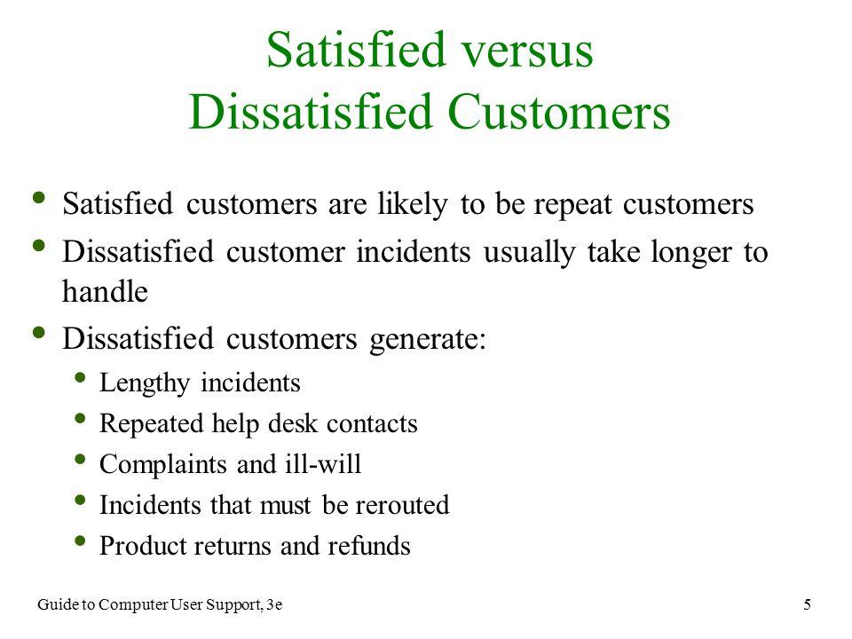 Satisfied versus Dissatisfied Customers