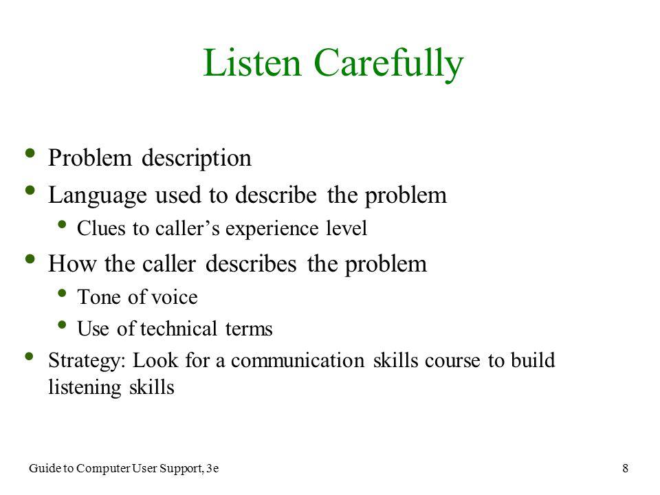 Listen Carefully Problem description