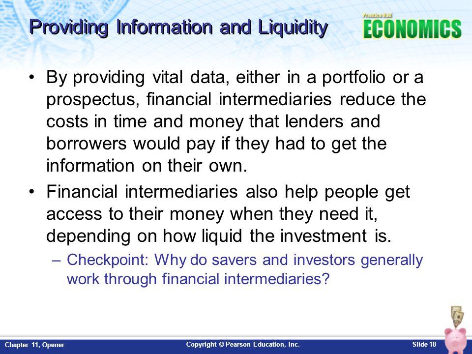 Providing Information and Liquidity