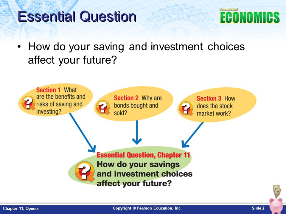 Essential Question How do your saving and investment choices affect your future