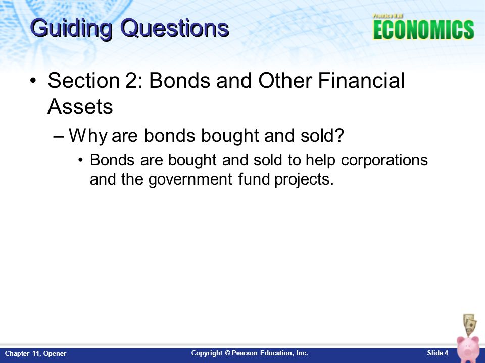 Guiding Questions Section 2: Bonds and Other Financial Assets