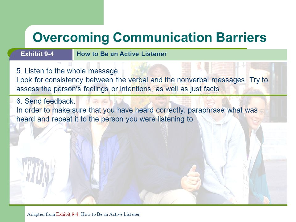 Overcoming Communication Barriers