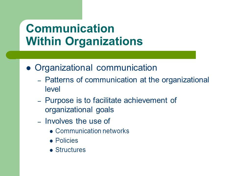 Communication Within Organizations