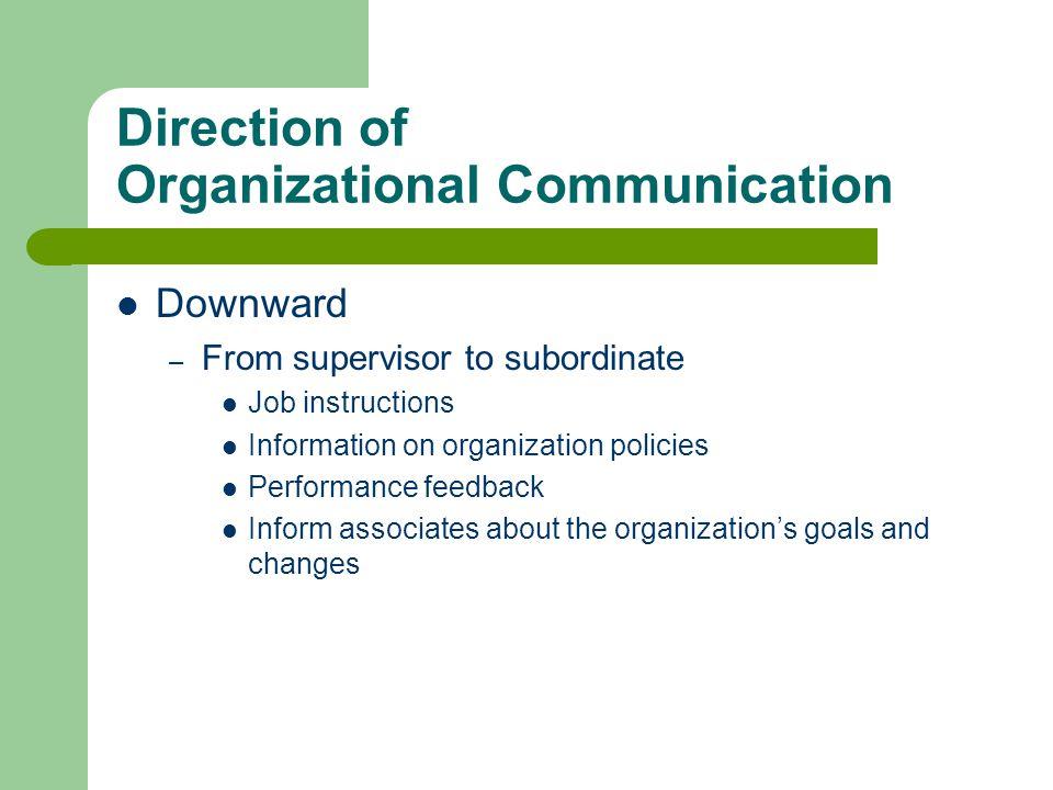 Direction of Organizational Communication