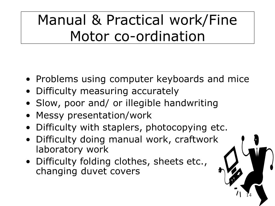 Manual & Practical work/Fine Motor co-ordination