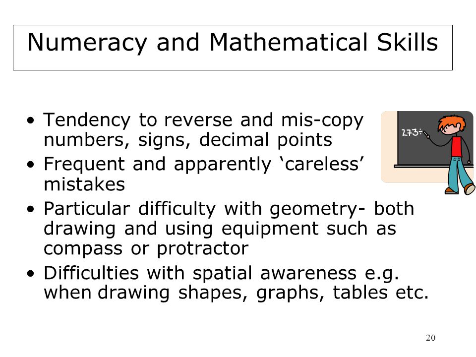 Numeracy and Mathematical Skills