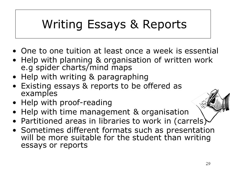 Writing Essays & Reports