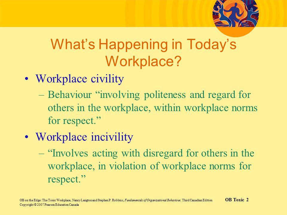 What's Happening in Today's Workplace