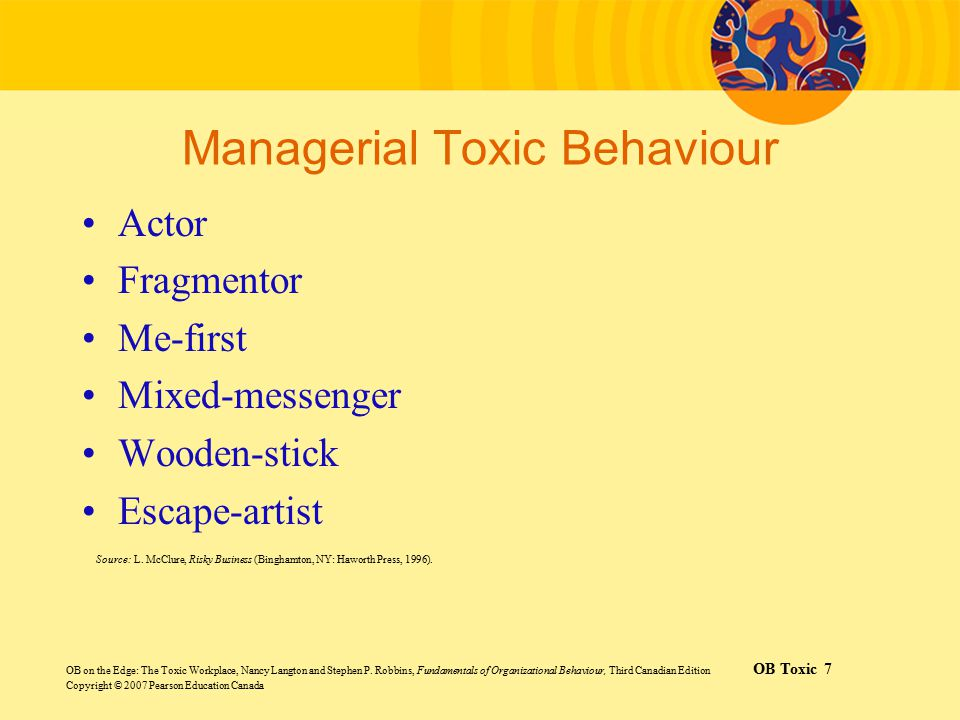 Managerial Toxic Behaviour