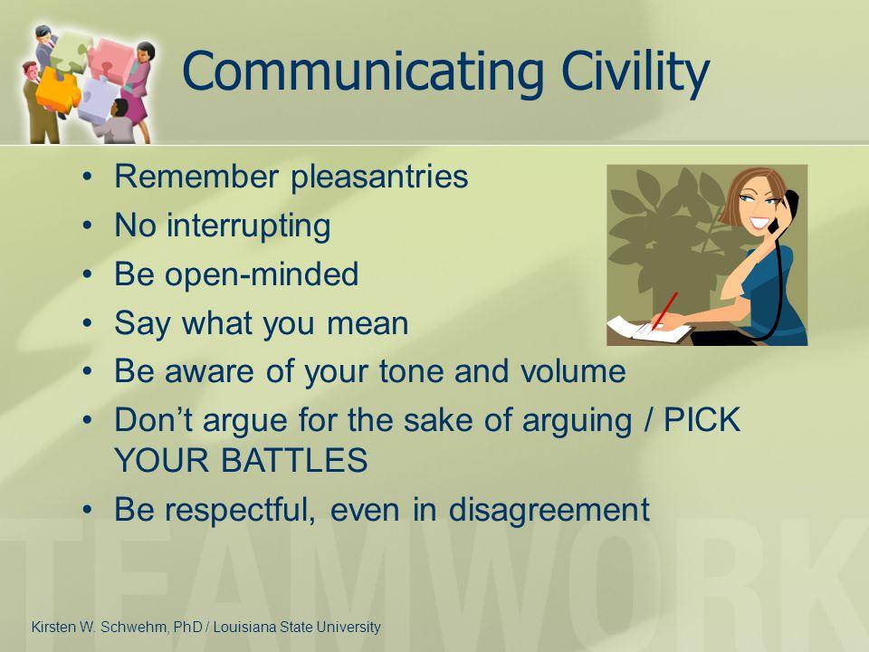 Communicating Civility