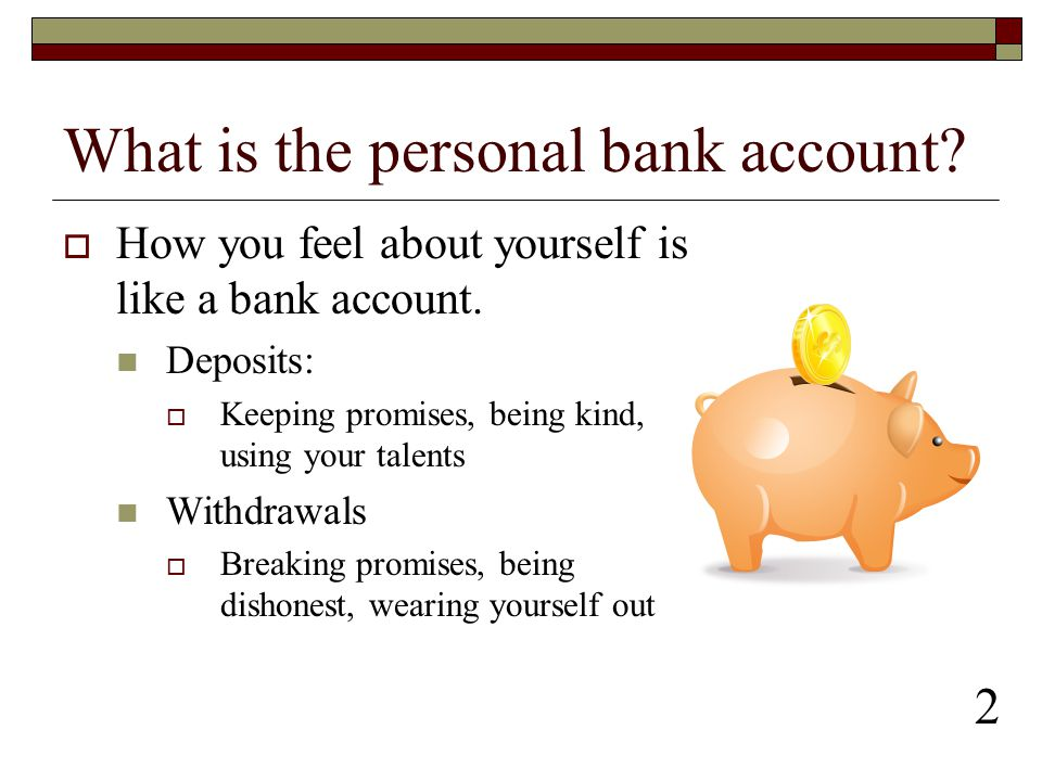 What is the personal bank account