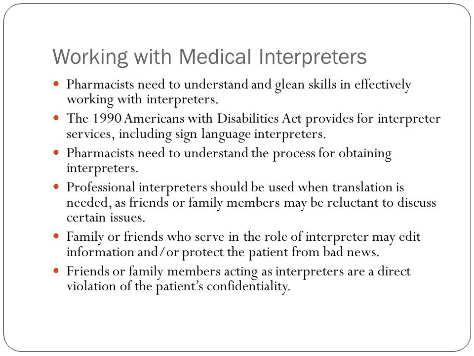 Working with Medical Interpreters
