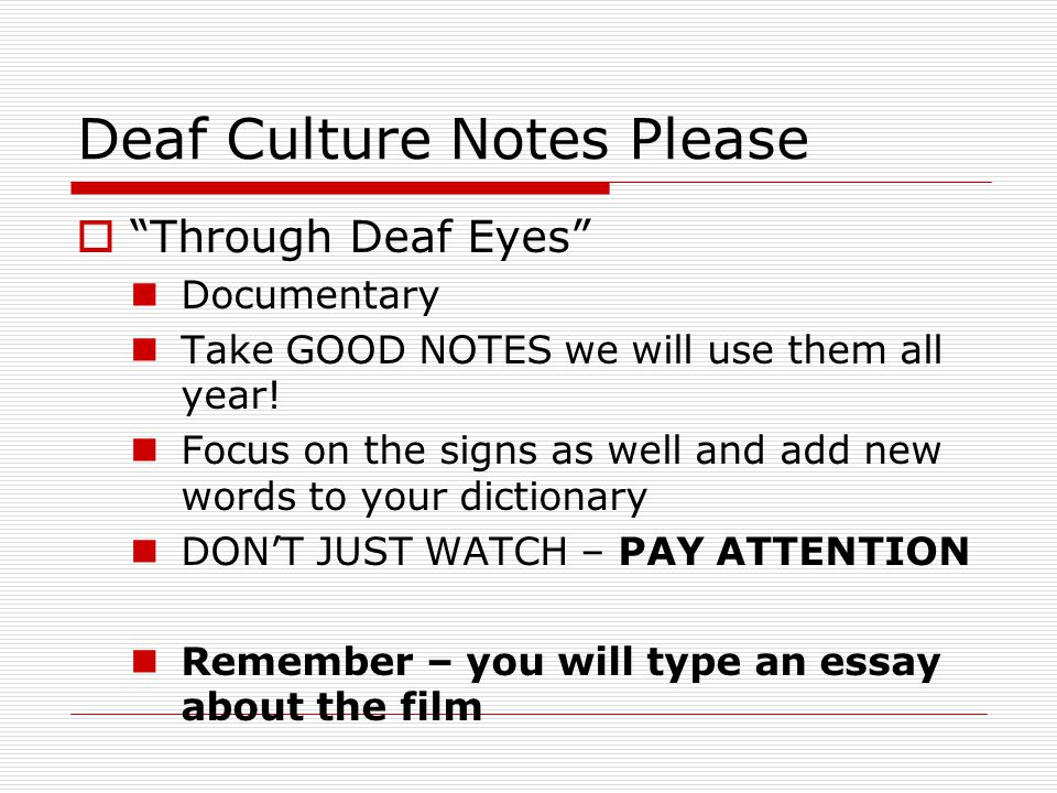 deafness as a culture essay Deaf culture essay - reliable paper writing help - we help students to get affordable essays, research papers, reviews and proposals starting at $10/page secure student writing and editing assistance - purchase quality essays, research papers, reviews and proposals with discounts reliable homework writing and editing company - order affordable.