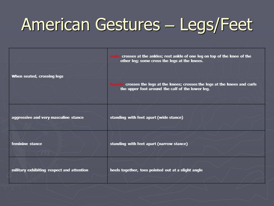 American Gestures – Legs/Feet