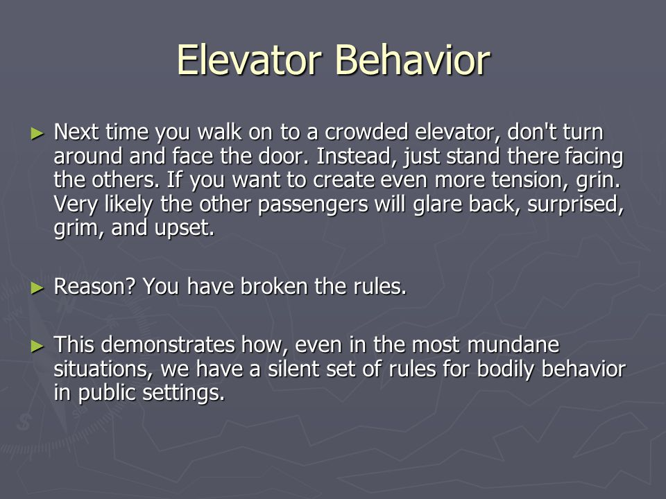 Elevator Behavior