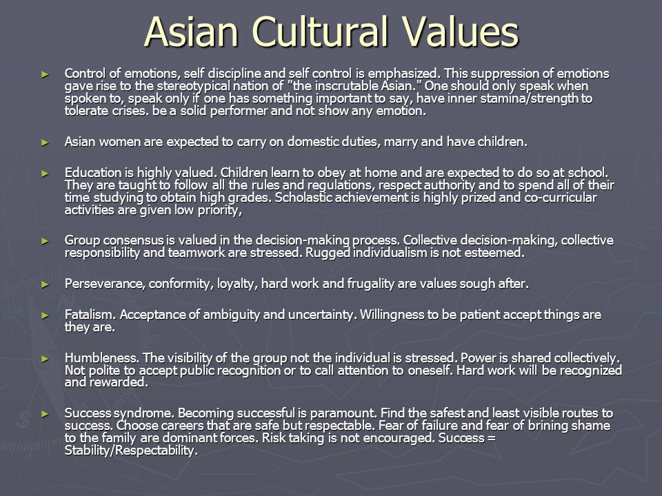 Asian Cultural Values