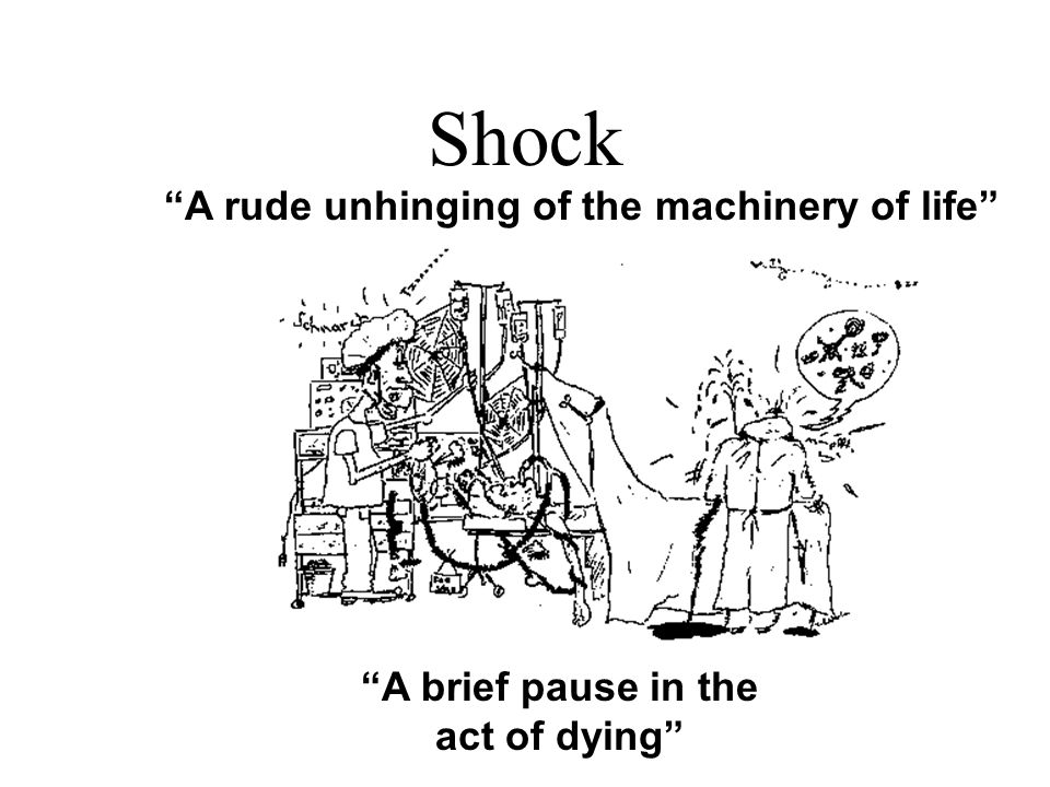 Shock A rude unhinging of the machinery of life