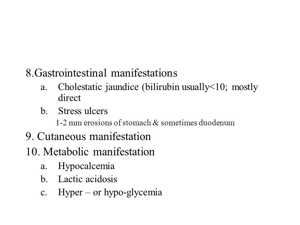 8.Gastrointestinal manifestations