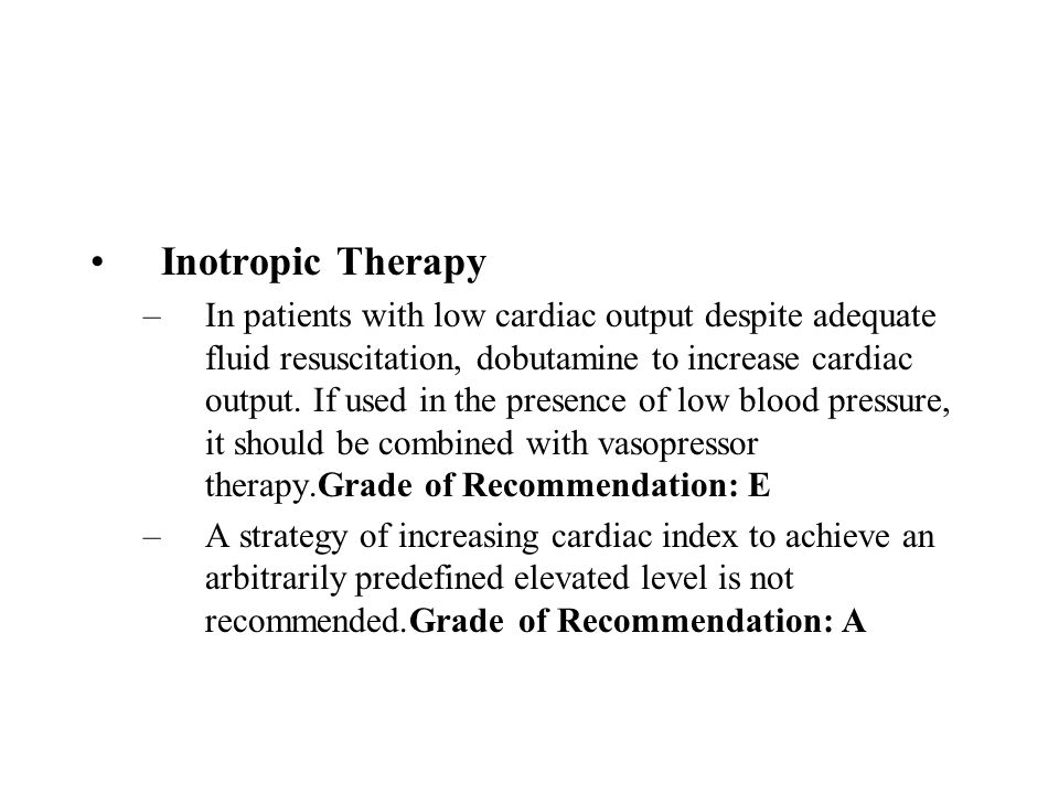 Inotropic Therapy