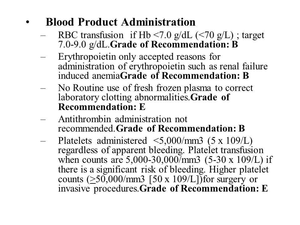Blood Product Administration