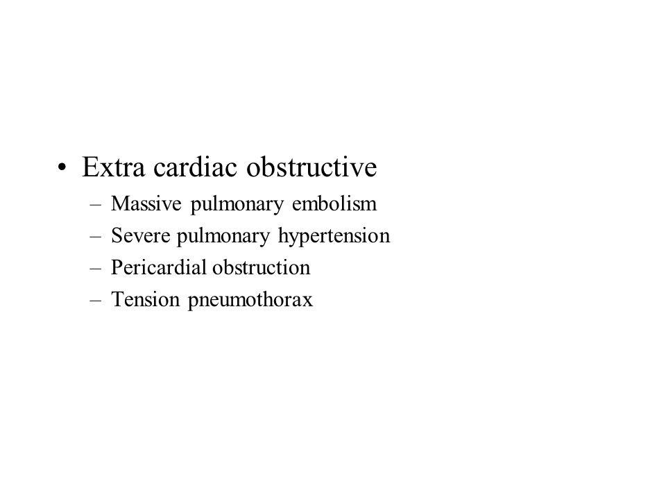 Extra cardiac obstructive