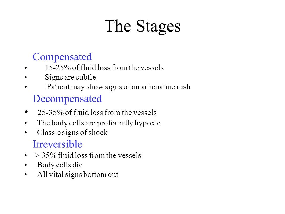 The Stages Compensated Decompensated