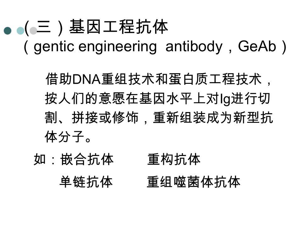 (三)基因工程抗体 (gentic engineering antibody,GeAb)