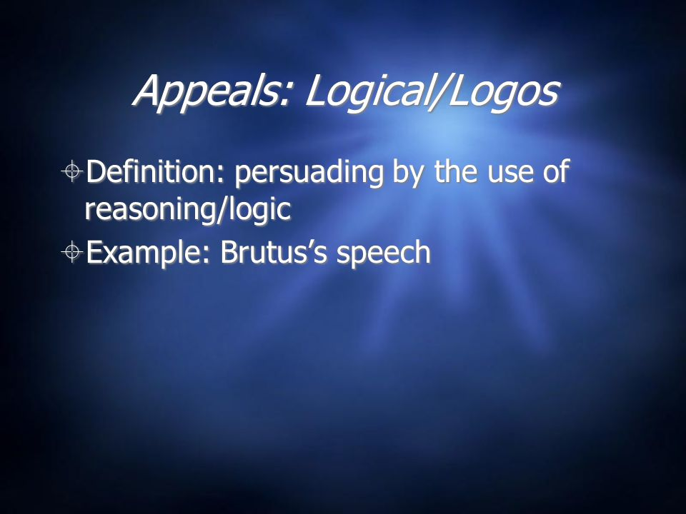 Appeals: Logical/Logos