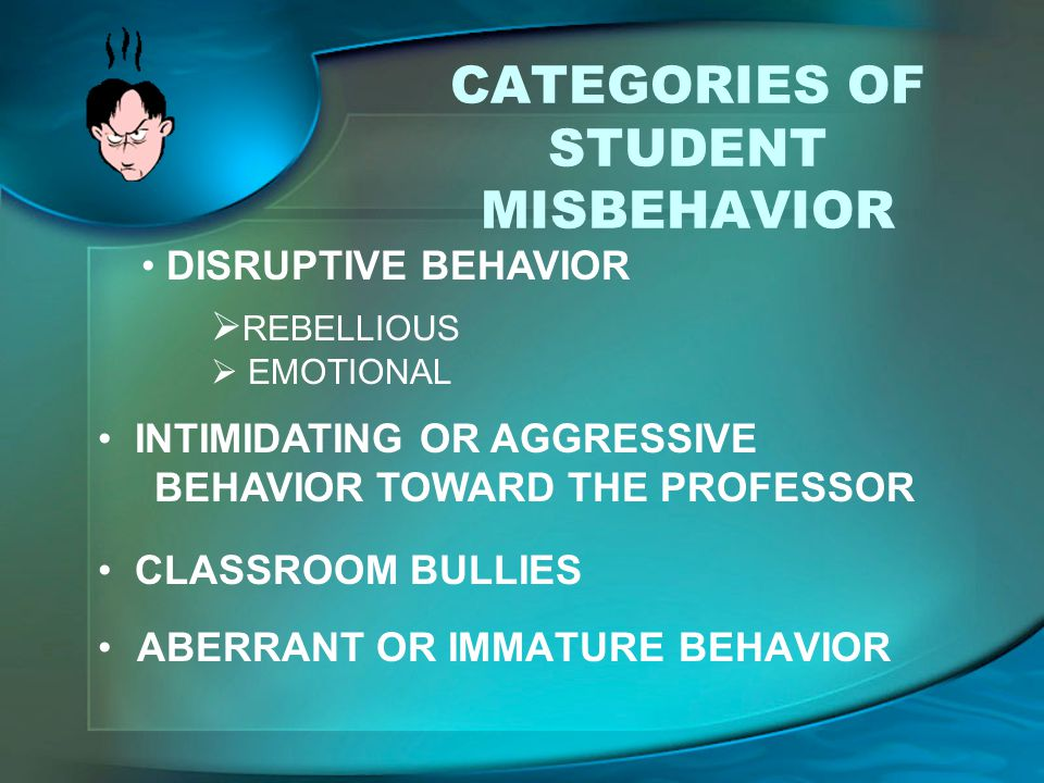 CATEGORIES OF STUDENT MISBEHAVIOR