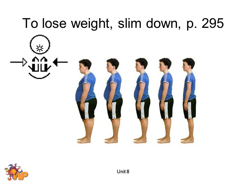 To lose weight, slim down, p. 295