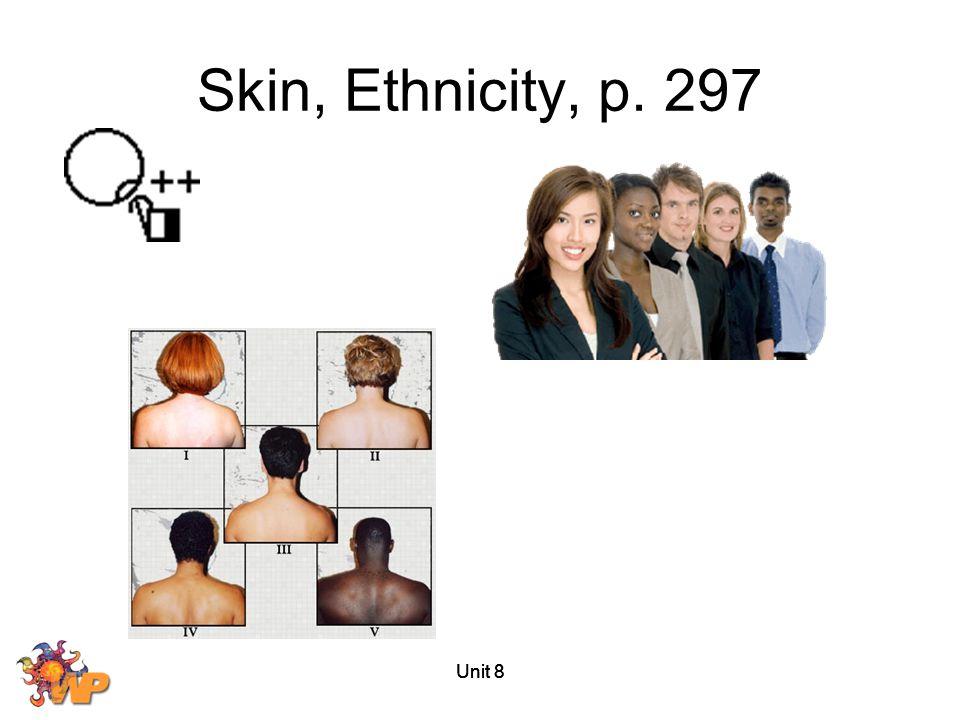Skin, Ethnicity, p. 297 Unit 8 Unit 8 Unit 8