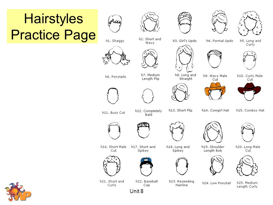 Hairstyles Practice Page