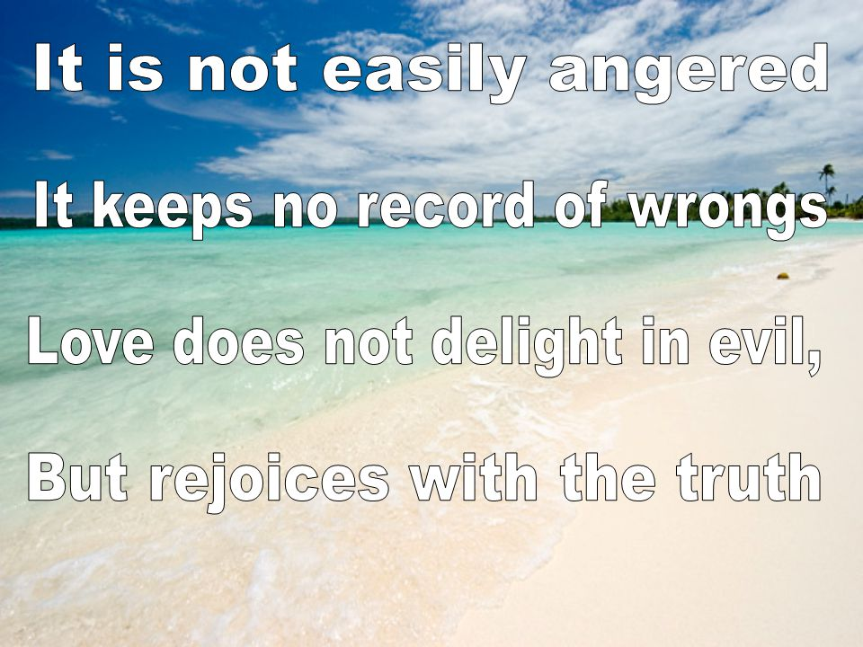 It is not easily angered