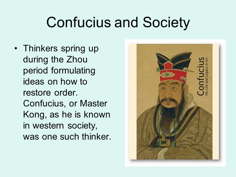 Confucius and Society