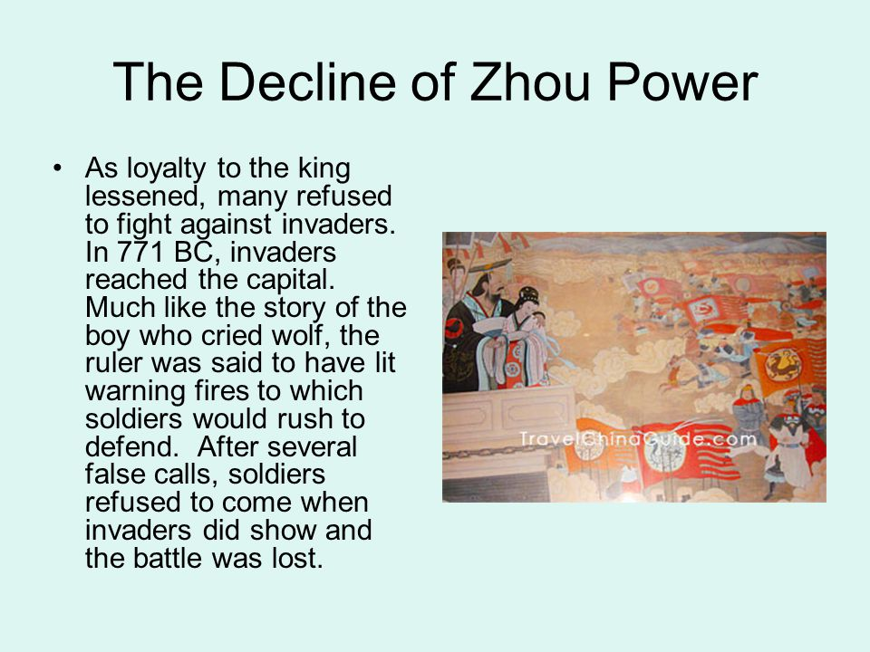The Decline of Zhou Power