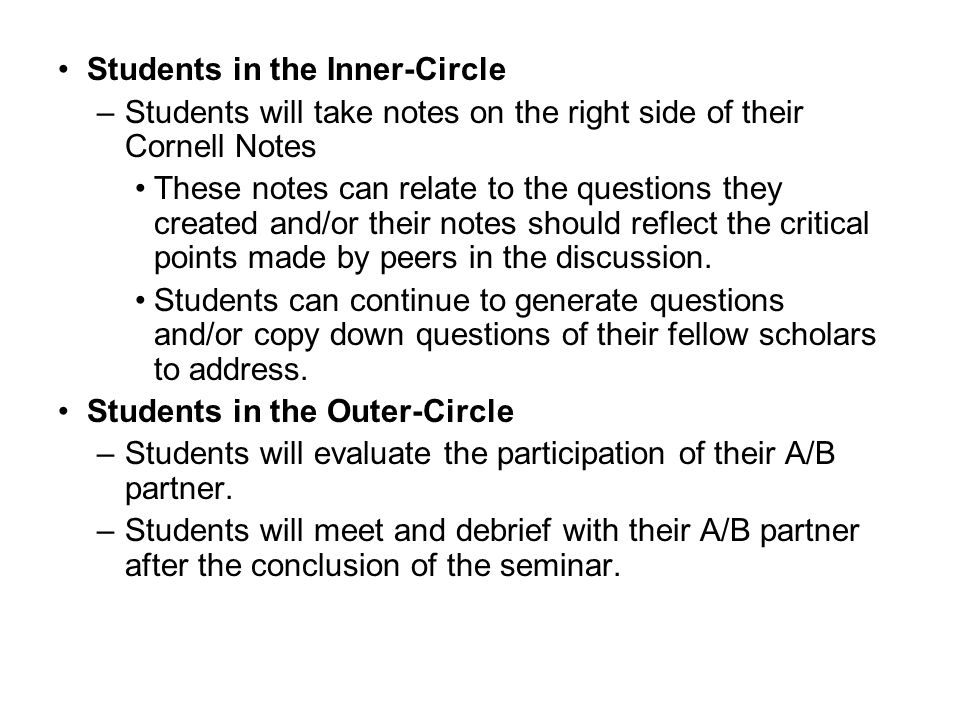 Students in the Inner-Circle