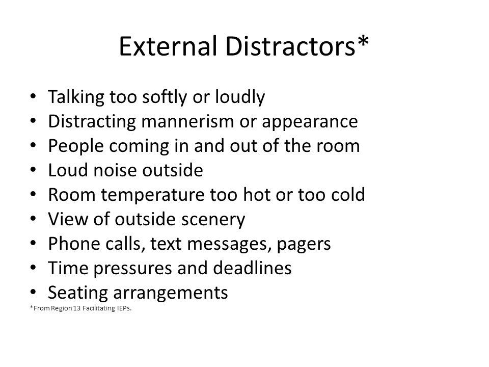 External Distractors*
