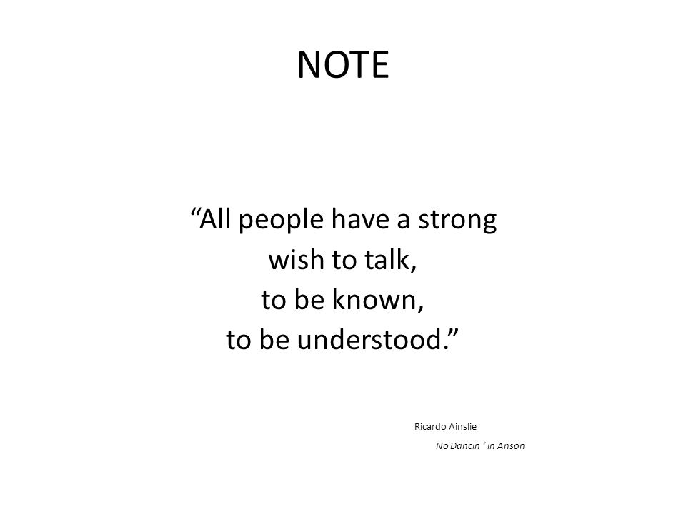 All people have a strong