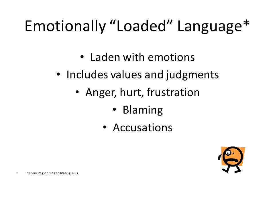 Emotionally Loaded Language*