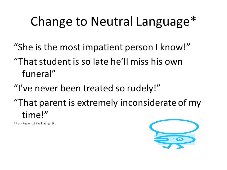 Change to Neutral Language*