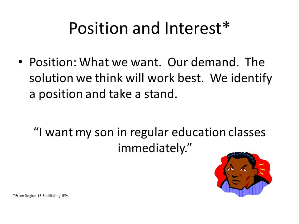 Position and Interest*