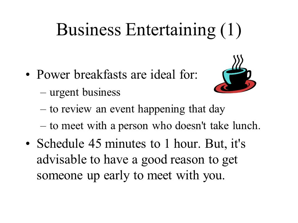 Business Entertaining (1)